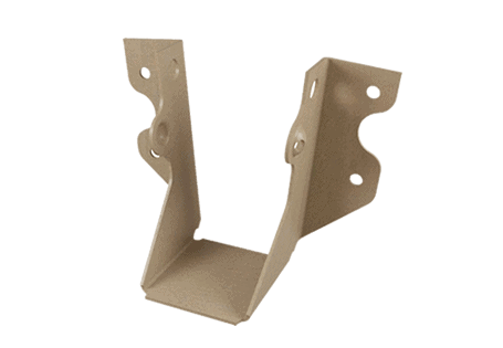 Solid sawn hangers structural connectors
